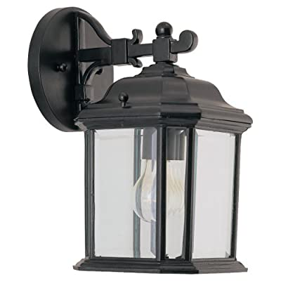 Sea Gull Lighting Single-Light Kent Outdoor Wall Lantern with Clear Beveled Glass