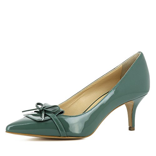 Giulia Olive Verni Femme Shoes Evita Vert Cuir Escarpins UXxq5Pw0H