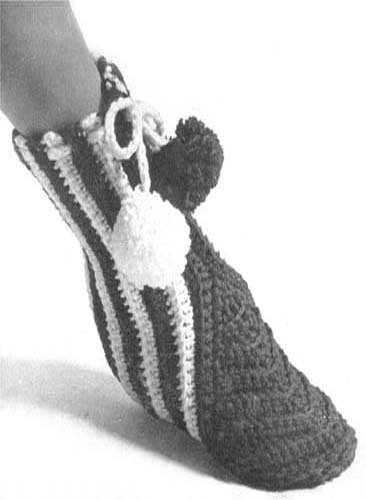 Crochet Slipper Boots Shoes Pattern Sizes Small Medium Large