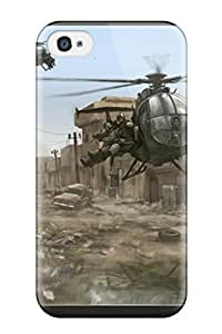 Hot Premium Case With Scratch-resistant/ Helicopter Case Cover For Iphone 4/4s
