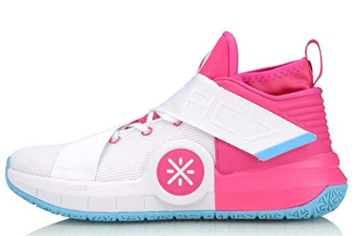 LI-NING All City 7 Wade Men Basketball Shoes Lining Professional Technology Sneakers Sports Shoes Pink White ABAP105-6H US 9 (Official Footwear)