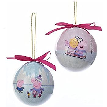 Amazon.com Kurt Adler Peppa Pig Decoupage Christmas Ball