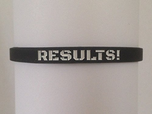 MOTIVATIONAL WRISTBANDS EMBOSSED RESULTS STANDARD product image