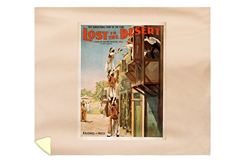 Lost in the Desert Arabian Theatrical Poster (88x104 King Microfiber Duvet Cover) by Lantern Press