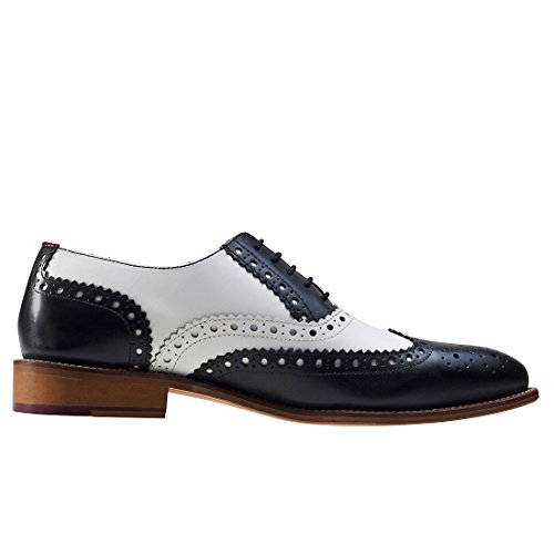 Scarpe Brogue London Brogues Gatsby In Pelle Nero