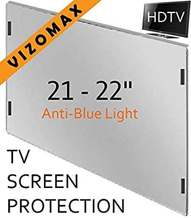 21 - 22 inch Anti-blue Light Vizomax Computer Monitor / TV Screen Protector Filter for LCD, LED & Plasma HDTV ()