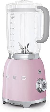Smeg Batidora BLF01PKEU, 800 W, 1500 milliliters, Vidrio, 4 Velocidades, rosa pastel: Amazon.es: Hogar