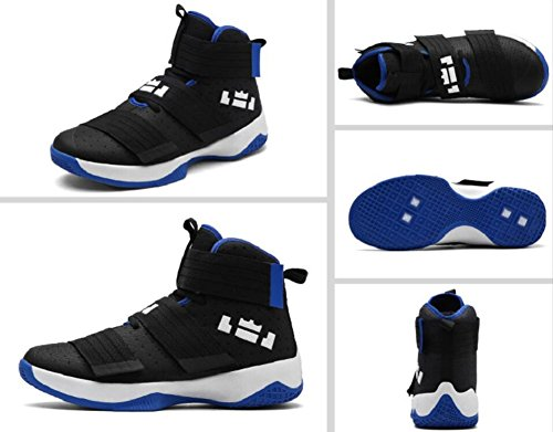 JiYe Men's Basketball Shoes for Women's Performance Sports Velcro Sneakers by Black Blue cheap best buy cheap extremely online cheap price hbMlNP1I