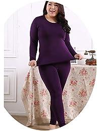 aa494506cbc Autumn Winter Fleece Warm 2 Pieces Women Long Johns Large Size Slim Soft Thermal  Underwear Women