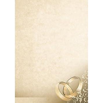 """Diseño Papel """"boda/amor – Marrón Mármol con anillos – Din A4"""