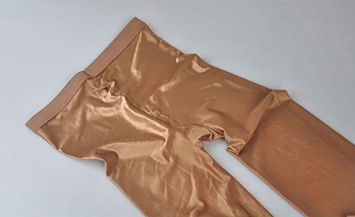 2 Pairs Shaping Socks Oil Socks Shiny Silk Stockings Pantyhose Dance Tights (Champagne 2) by RICHTOER (Image #3)