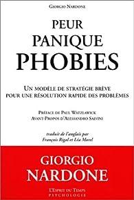 Peur, panique, phobies par Giorgio Nardone