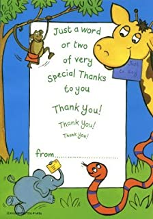 10 Thank You Jungle Theme Design Cards With Envelopes Birthday Party