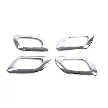 ABS cromado lateral interior tirador de puerta Bowl para Trim 4 piezas para coche accesorios pg3008: Amazon.es: Coche y moto