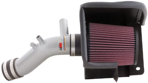 K/&N 69-2542TS 69 Series Silver Typhoon Electronically Tuned Intake System