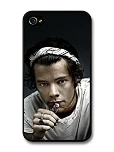 Harry Styles Close Up Chain Ring One Direction 1D case for iPhone 4 4S