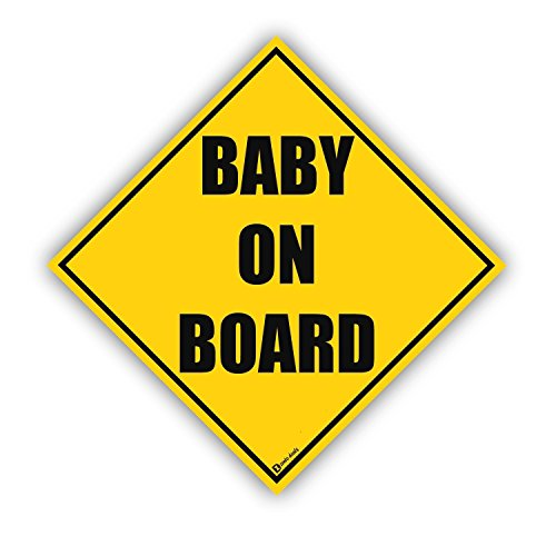 Fence Applique (Zento Deals Baby on Board Reflective Magnetic Sign)