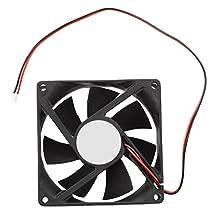 SODIAL(R) 80mm DC 12V 2pin PC Computer Desktop Case CPU Cooler Cooling Fan
