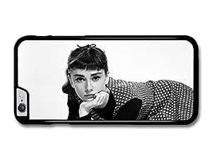 "AMAF ? Accessories Audrey Hepburn Black & White Dress Posing case for iPhone 6 Plus (5.5"")"
