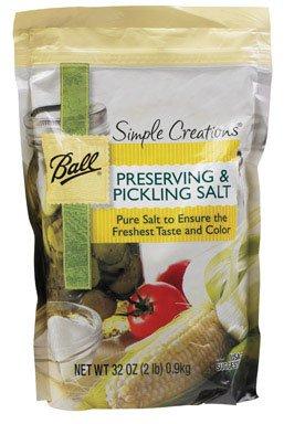 Ball Simple Creations Preserving & Pickling Salt 32 Oz (Best Salt For Pickling)