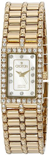 CROTON Women's CN207536YLMP Analog Display Quartz Gold Watch (Croton Bezel Crystal)