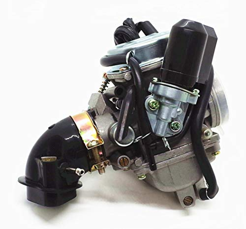 FLYPIG New Carburetor /& Intake Manifold 24mm For HOWHIT GY6 150cc 150 Scooter Go Kart
