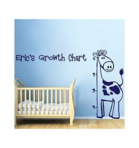 Dailinming PVC Wall Stickers Giraffe Height stickers children's room bedroom green home decorWallpaper127cm x 58.4cm-Matt - 127 Matt