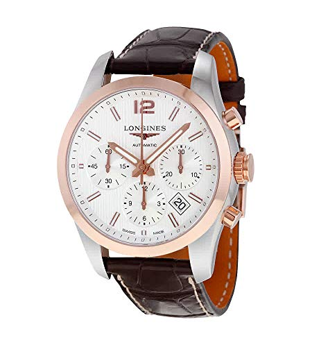 Longines Conquest Classic White Dial Chronograph Mens Watch Mens Automatic L27865763