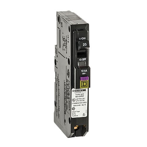 Square D by Schneider Electric QO Plug-On Neutral 20 Amp Single-Pole Dual Function (CAFCI and GFCI) Circuit Breaker