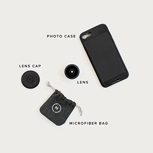 iPhone 8 / iPhone 7 Case with Fisheye Lens Kit || Moment Black Canvas Photo Case plus Superfish Lens || Best iphone fisheye attachment lens with thin protective case. by Moment (Image #6)