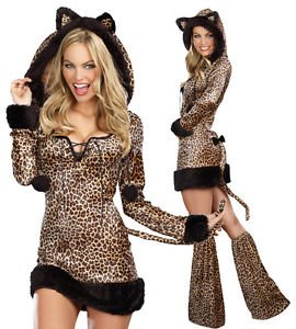 [LanLan Sexy Womens Cheetah Leopard Jungle Cat Halloween Costume] (Womens Halloween Ideas)