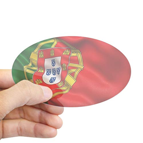 - CafePress Portugal Flag Oval Bumper Sticker, Euro Oval Car Decal