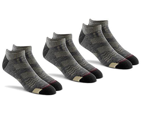 (Fox River Mills 3 Pack Primaloft Hike Lightweight Ankle Sock (Charcoal, Medium))