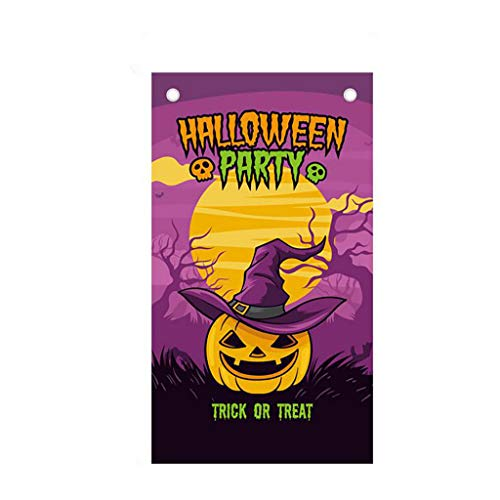 CakeLY Halloween Decorations Halloween Background Poster Bar Party Cinema Background Hanging Flag