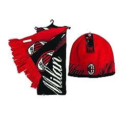 RHINOXGROUP AC Milan FC Beanie Hat and R...