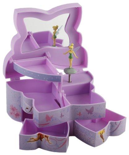 Disney Fairies Plastic Butterfly Shape Musical Jewellery Box Amazon