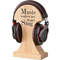 NIKKY HOME Handmade Wood Headphone Stand
