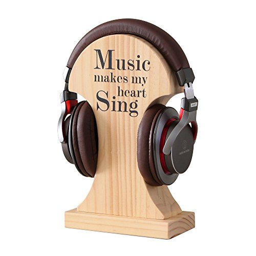 NIKKY HOME Handmade Wood Headphone Stand Holder by NIKKY HOME