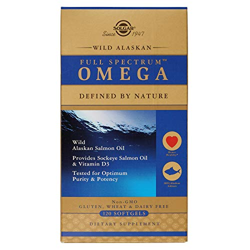 Solgar Wild Alaskan Full Spectrum Omega, Tested for Optimum Purity & Potency, Non-GMO, 120 Softgels -