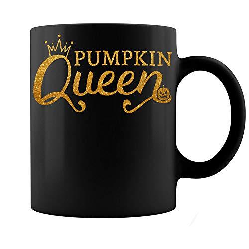 Royal Pumpkin Queen Halloween Mom Wife Girlfriend Happy Pumpkin Day Mug Gift Black Ceramic Coffee Tea Mug Cup 11oz for $<!--$14.99-->