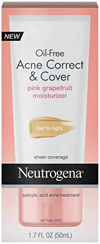 Neutrogena Acne Correct and Cover Fair to Light Pink Grapefruit Moisturizer, 1.7 Fluid Ounce - 12 per case.