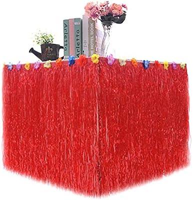 Falda de mesa hawaiana Luau falda de mesa con flor para ...
