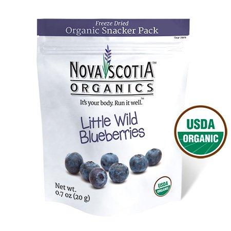 Nova Scotia Organics Freeze Dried Wild Blueberries Snacker Pack (6 x 20g); Certified Organic; Vegan