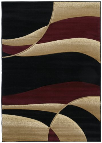 United Weavers Contours Collection Avalon 7-Foot 10-inch by 10-Feet 6-inch Heavyweight Heatset Olefin Rug, Burgundy ()