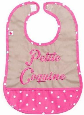 BB & Co pequeña atrevida babero de algodón plastificado con bolsillo: Amazon.es: Bebé
