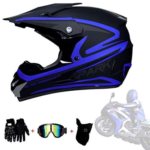 HELMETS-SHOP Motocross Kinder Kinderhelme – Jugend Quad Crash-DH Full Face Off Road Downhill Dirt Bike MX ATV…
