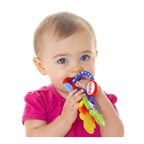 412SZ6fB1VL - Nuby Ice Gel Teether Keys