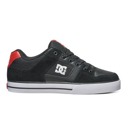 DC Men's Pure Skate Shoe 8.5 D(M) US|Black/White Stencil