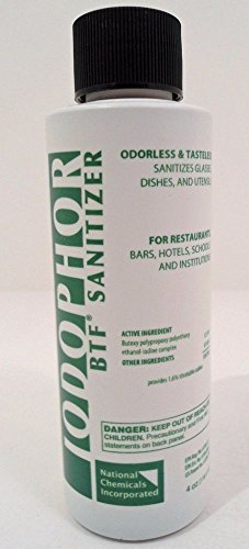 1 X BTF Iodophor Sanitizer - 4 oz.