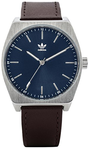 Adidas Men's Analogue Quartz Watch with Leather Strap Z05-2920-00 ()